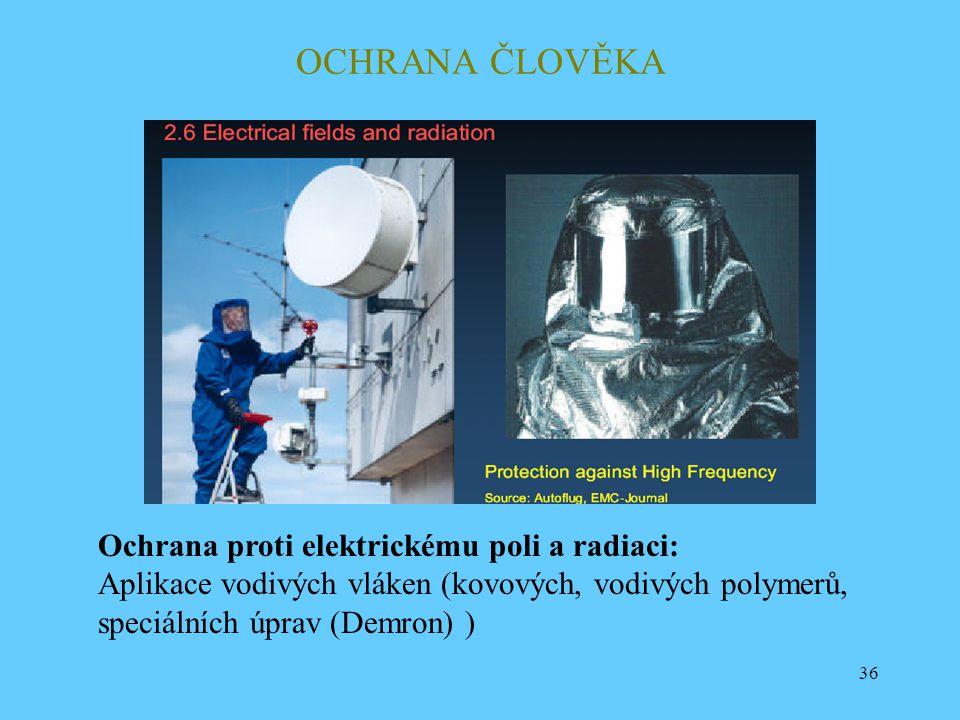 OCHRANA ČLOVĚKA Ochrana proti elektrickému poli a radiaci: