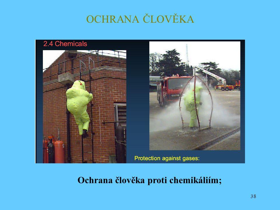 OCHRANA ČLOVĚKA Ochrana člověka proti chemikáliím;