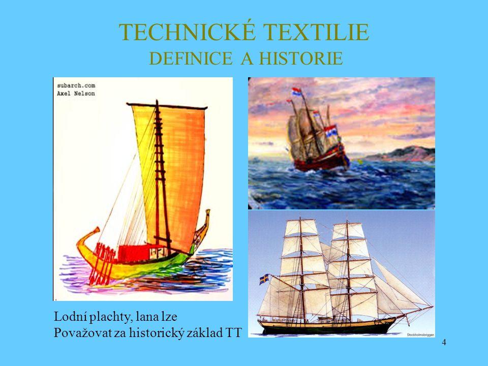 TECHNICKÉ TEXTILIE DEFINICE A HISTORIE