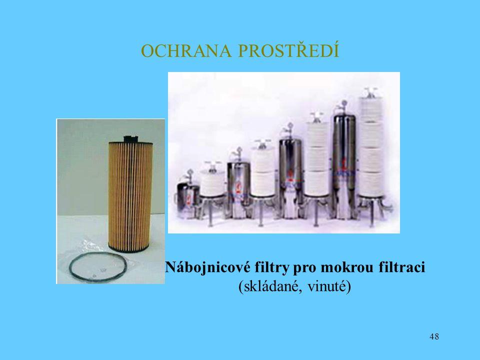 Nábojnicové filtry pro mokrou filtraci