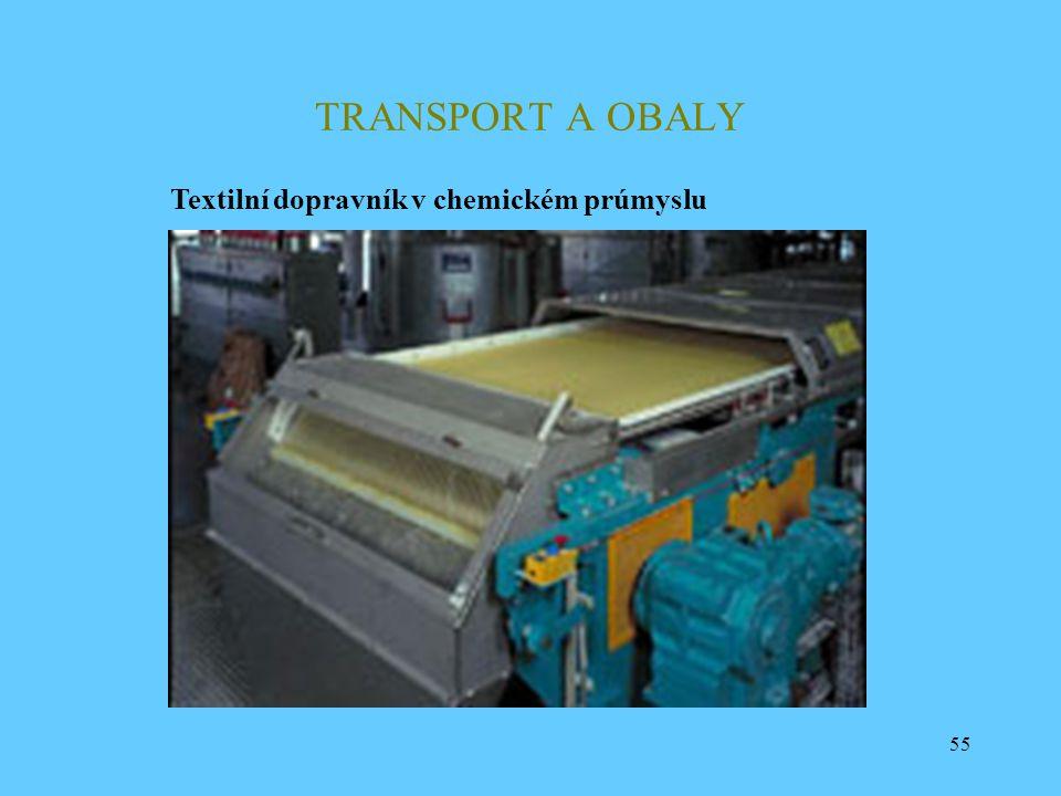 TRANSPORT A OBALY Textilní dopravník v chemickém prúmyslu