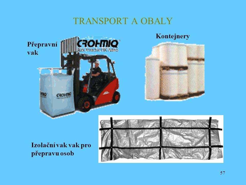 TRANSPORT A OBALY Kontejnery Přepravní vak