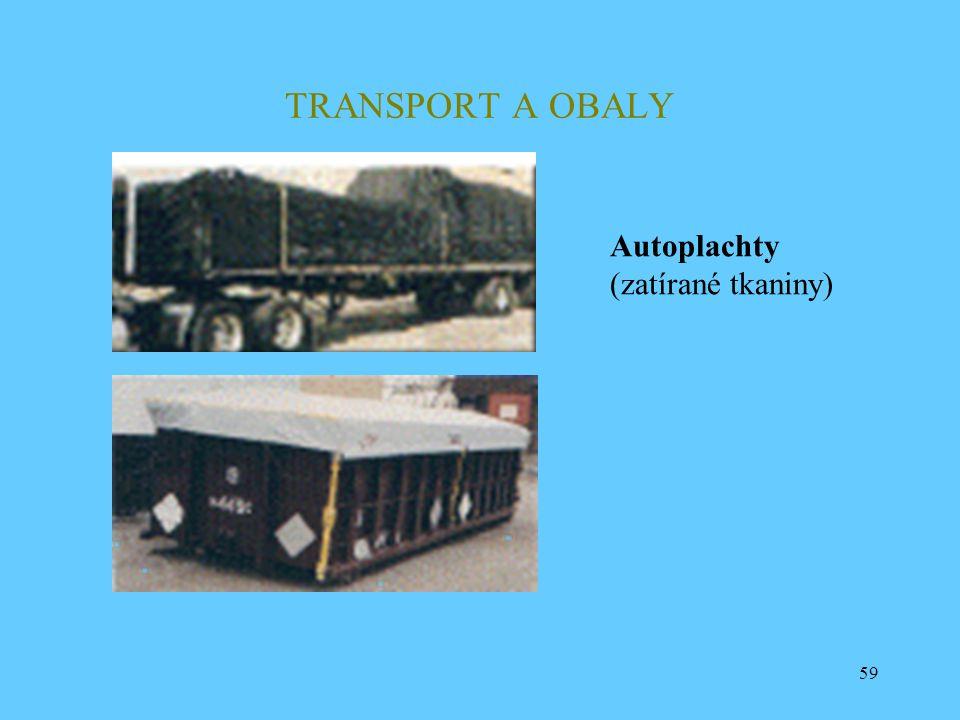 TRANSPORT A OBALY Autoplachty (zatírané tkaniny)