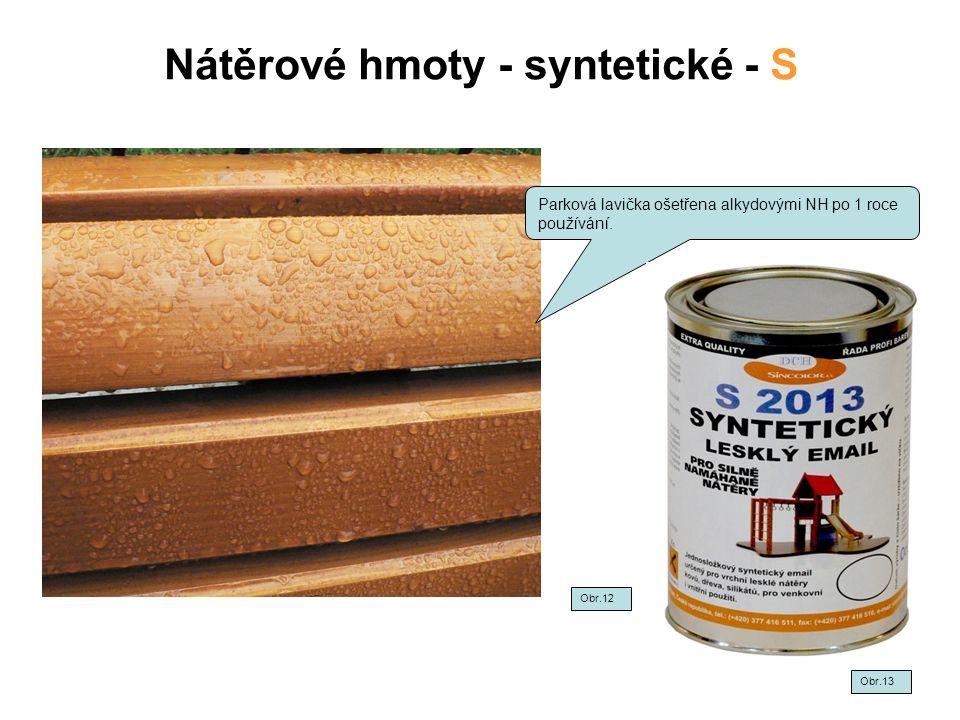 Nátěrové hmoty - syntetické - S