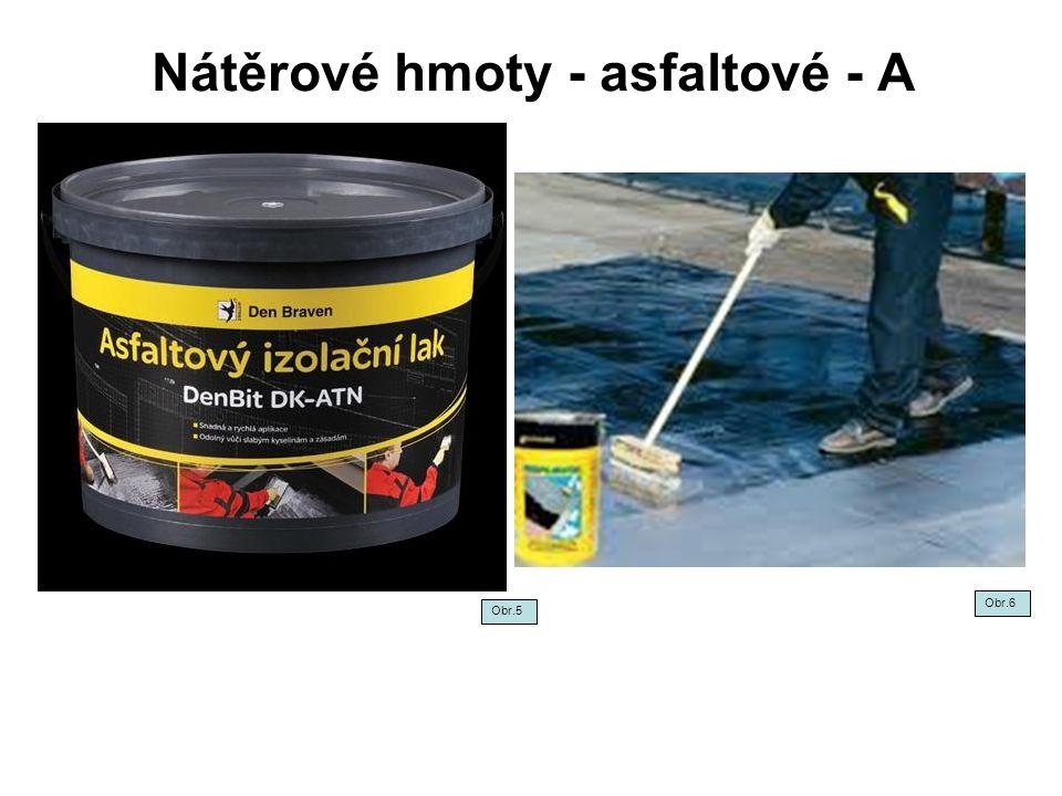 Nátěrové hmoty - asfaltové - A
