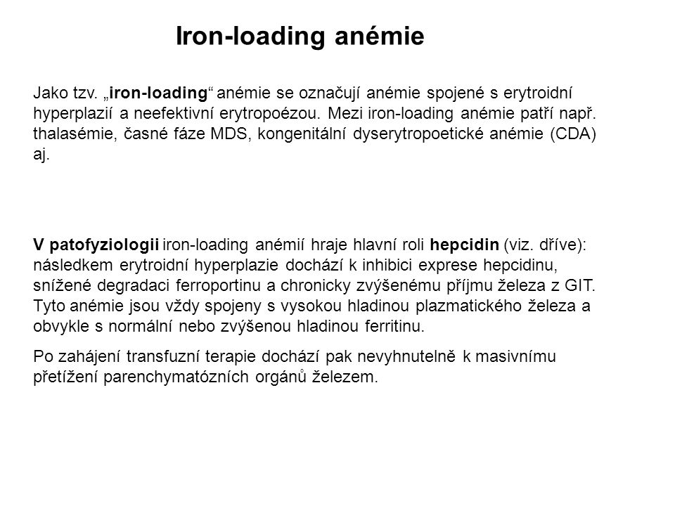 Iron-loading anémie