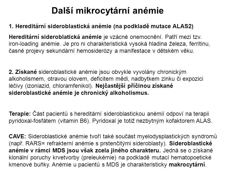 Další mikrocytární anémie