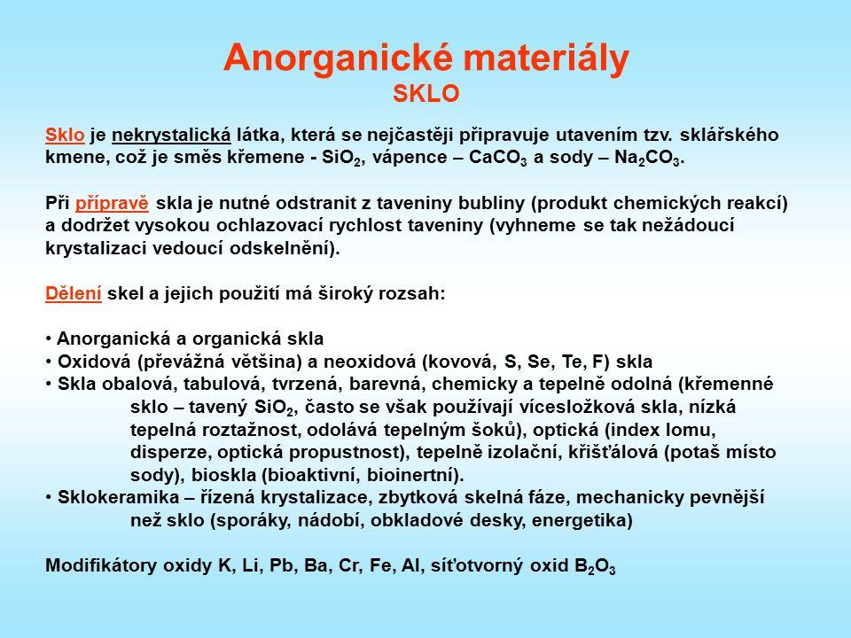 Anorganické materiály SKLO