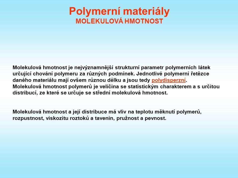 Polymerní materiály MOLEKULOVÁ HMOTNOST