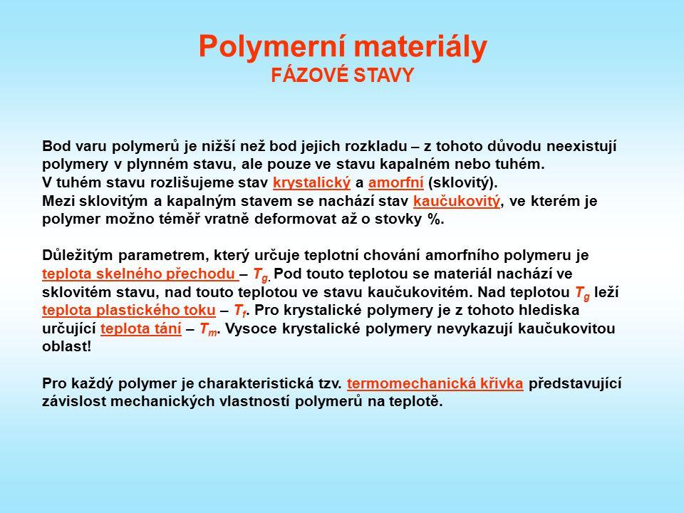 Polymerní materiály FÁZOVÉ STAVY