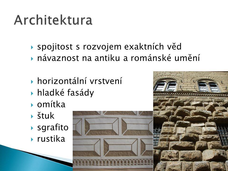 Architektura spojitost s rozvojem exaktních věd