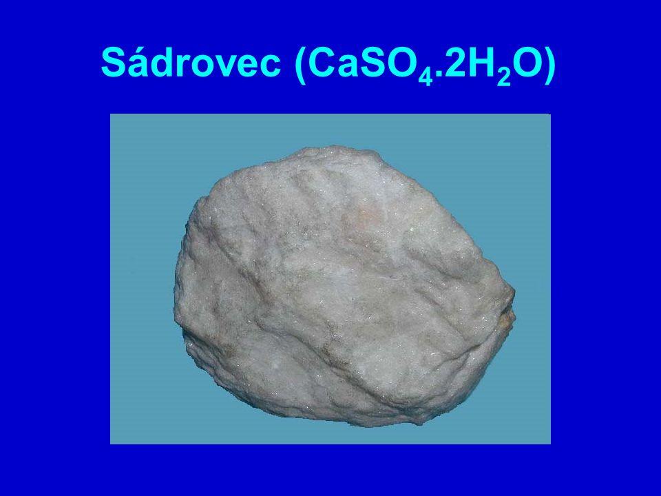 Sádrovec (CaSO4.2H2O)