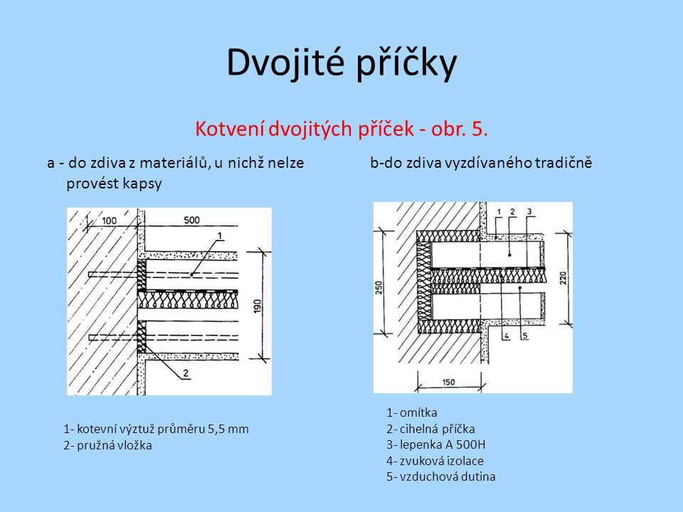 Kotvení dvojitých příček - obr. 5.