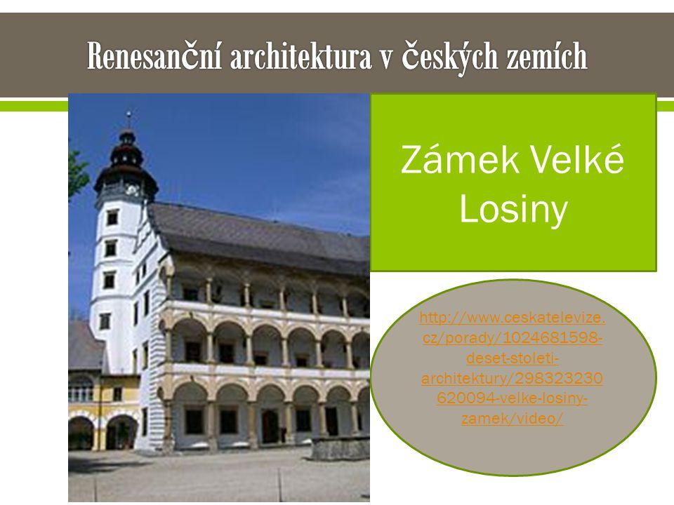Renesanční architektura v českých zemích