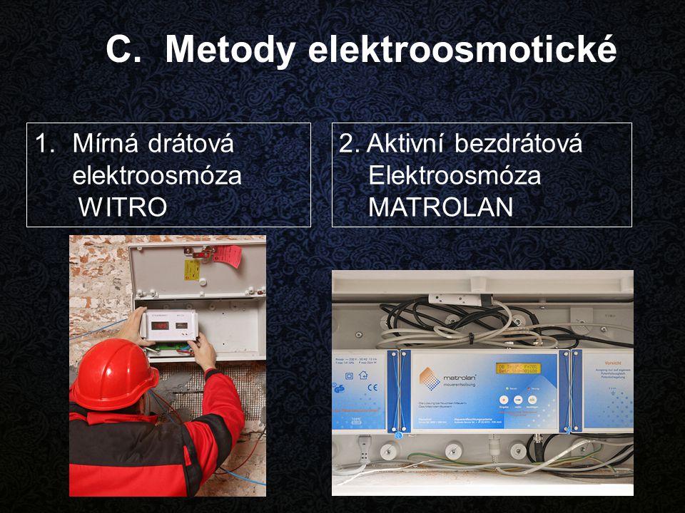 C. Metody elektroosmotické