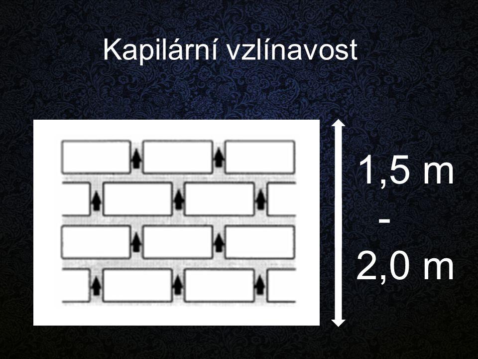 Kapilární vzlínavost 1,5 m - 2,0 m