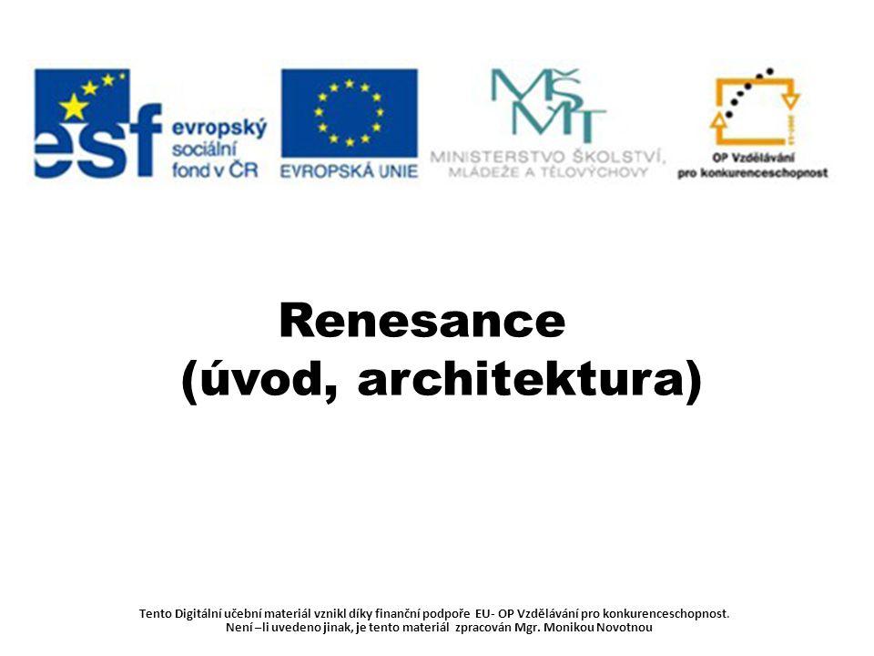 Renesance (úvod, architektura)