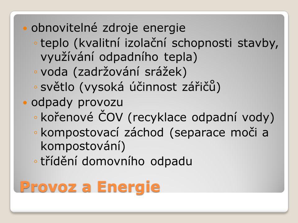 Provoz a Energie obnovitelné zdroje energie