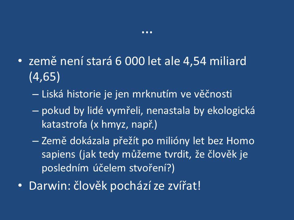 … země není stará 6 000 let ale 4,54 miliard (4,65)