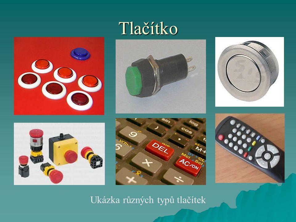Ukázka různých typů tlačítek