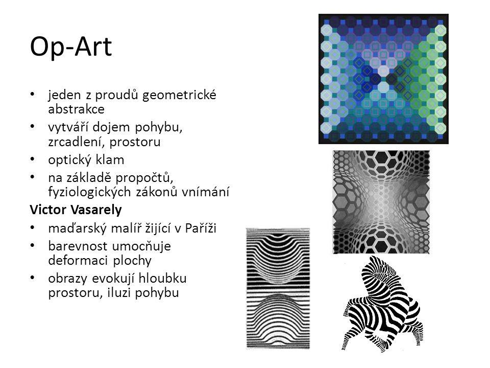 Op-Art jeden z proudů geometrické abstrakce