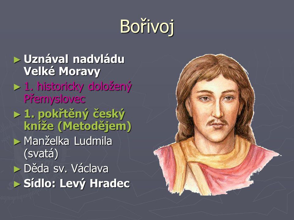 Bořivoj Uznával nadvládu Velké Moravy
