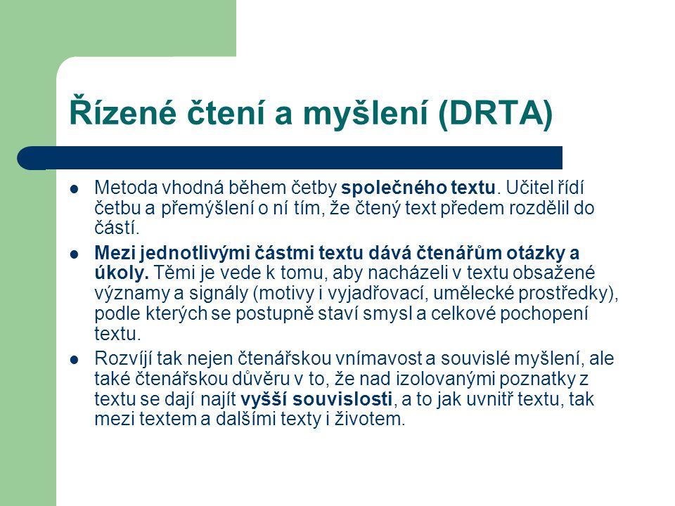 Řízené čtení a myšlení (DRTA)