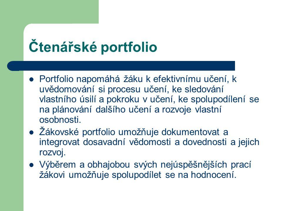 Čtenářské portfolio