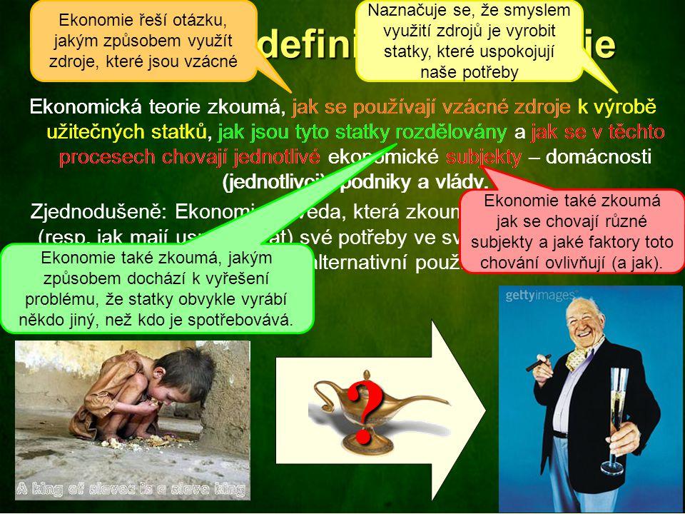 Předmět (definice) ekonomie