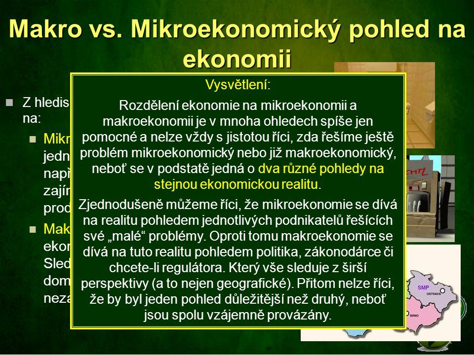 Makro vs. Mikroekonomický pohled na ekonomii