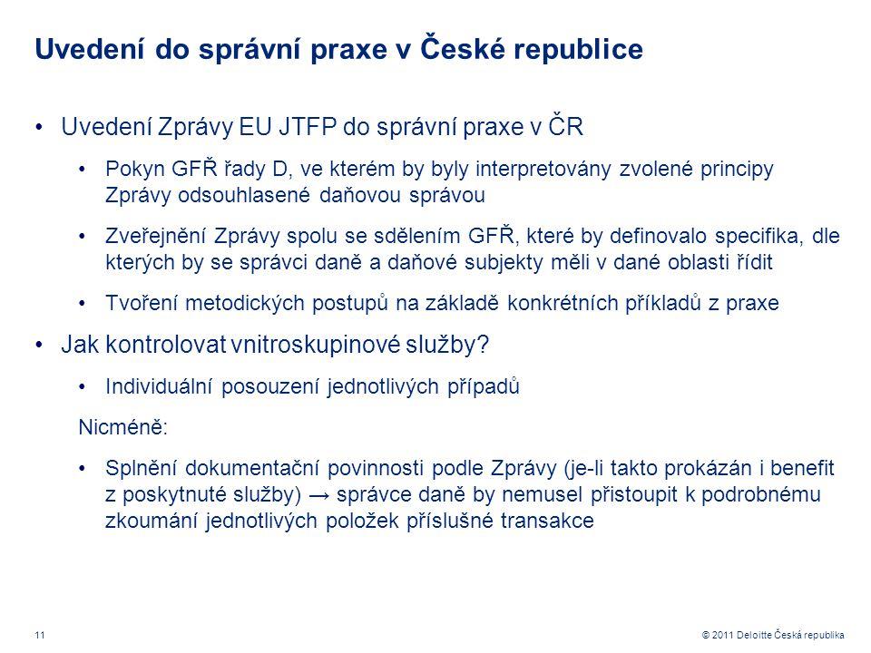 Uvedení do správní praxe v České republice