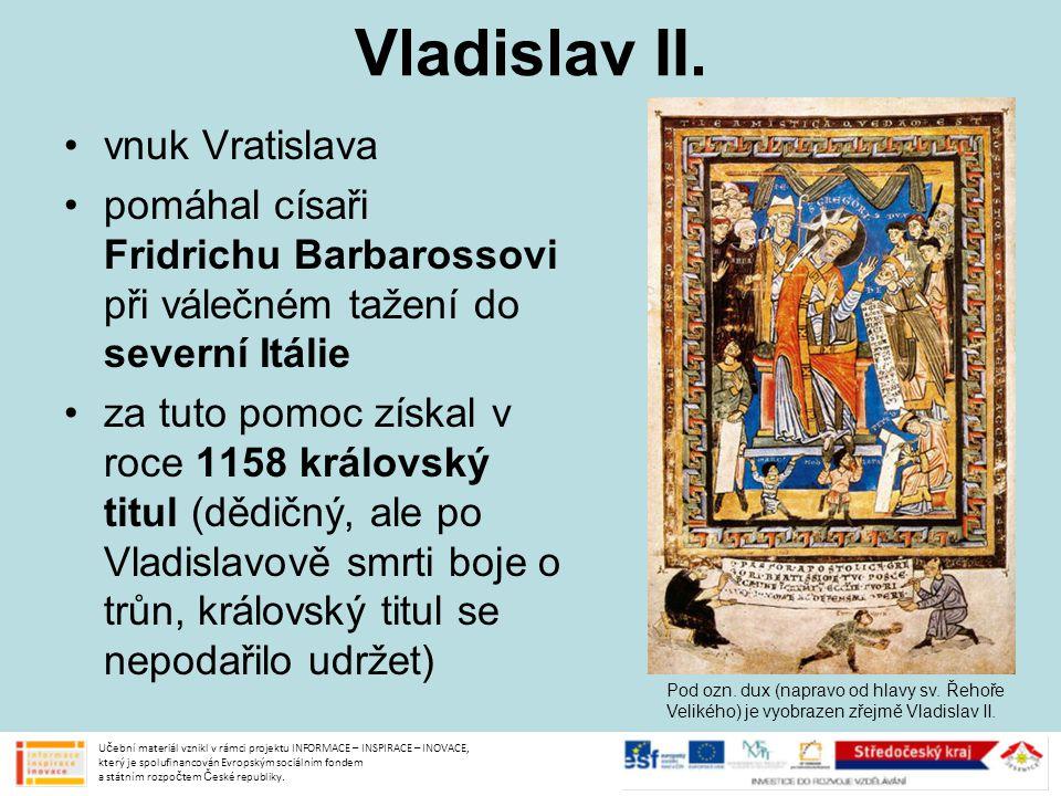 Vladislav II. vnuk Vratislava