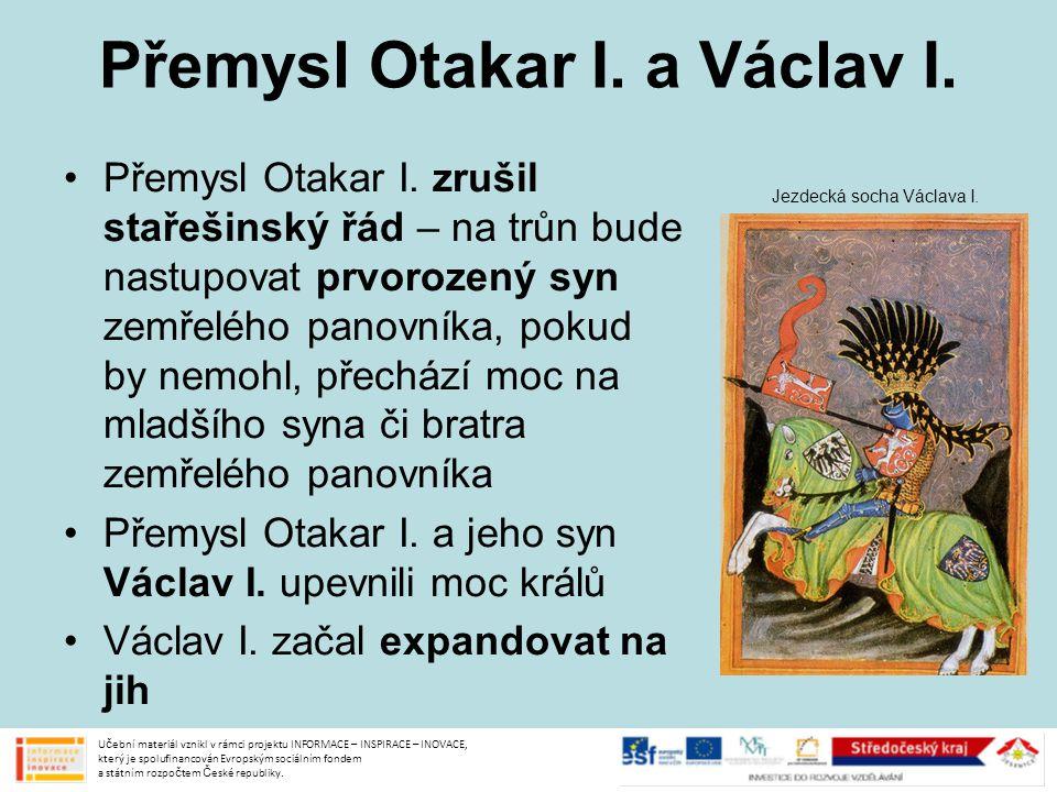 Přemysl Otakar I. a Václav I.