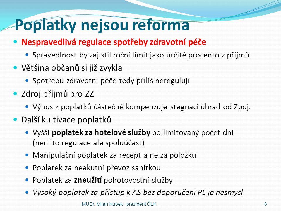 Poplatky nejsou reforma