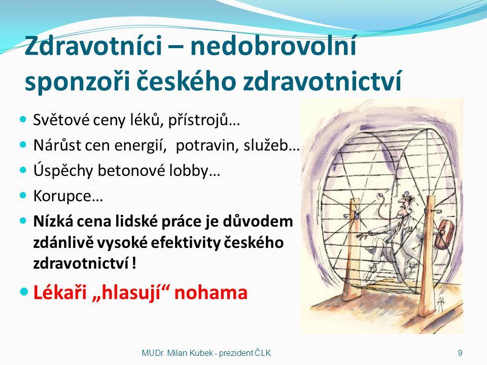 Zdravotníci – nedobrovolní sponzoři českého zdravotnictví