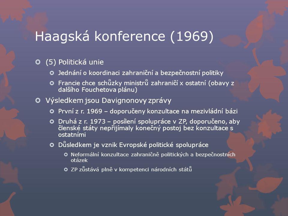 Haagská konference (1969) (5) Politická unie