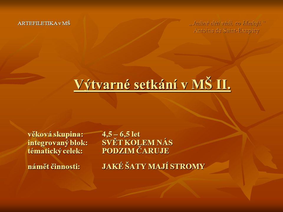 Výtvarné setkání v MŠ II.