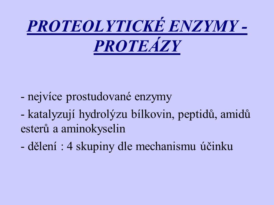 PROTEOLYTICKÉ ENZYMY - PROTEÁZY