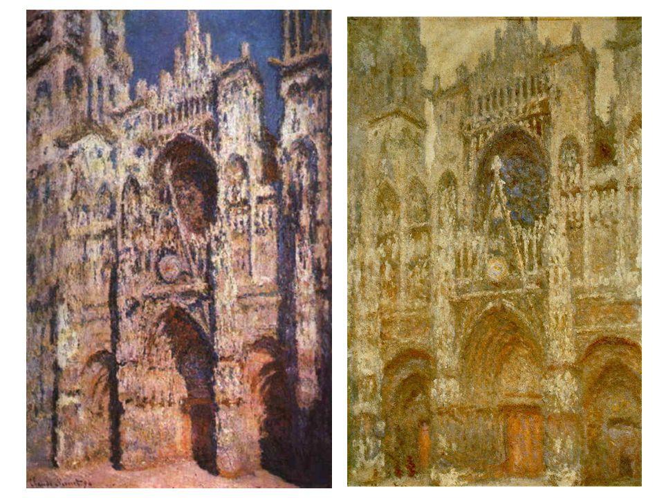 Katedrála v Rouen: za plného slunce, v pošmourném počasí