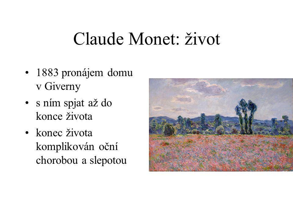 Claude Monet: život 1883 pronájem domu v Giverny