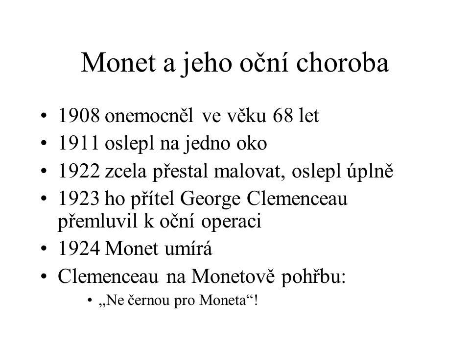 Monet a jeho oční choroba