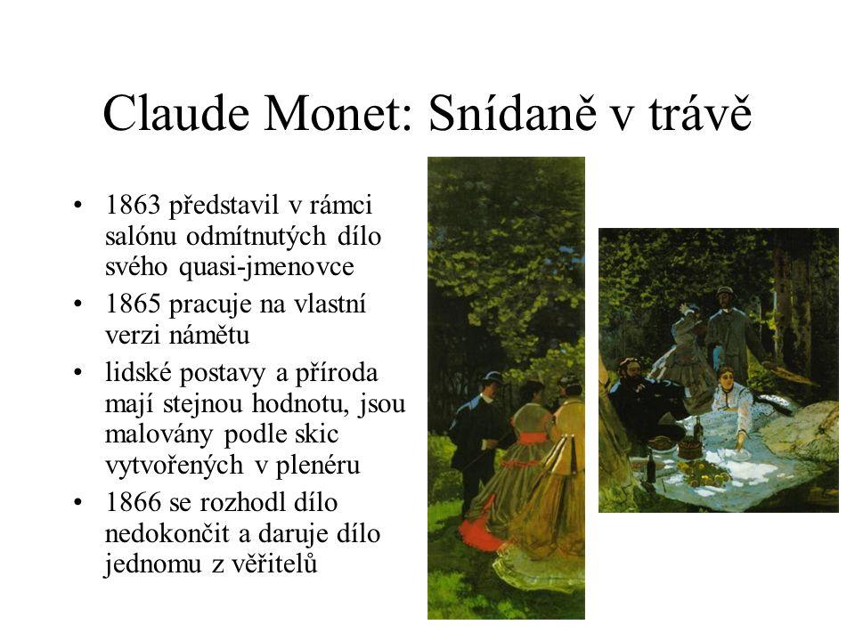 Claude Monet: Snídaně v trávě