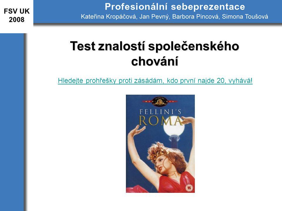 Test znalostí společenského chování