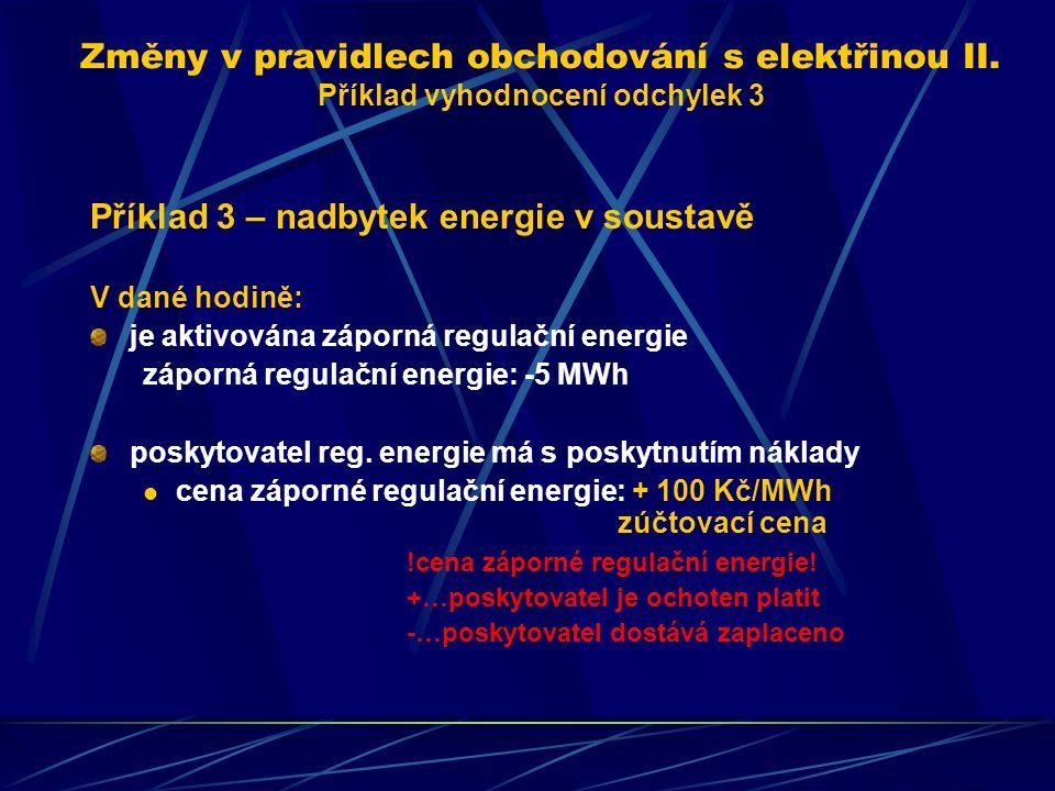 Příklad 3 – nadbytek energie v soustavě