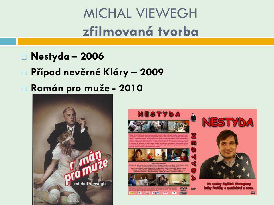 MICHAL VIEWEGH zfilmovaná tvorba
