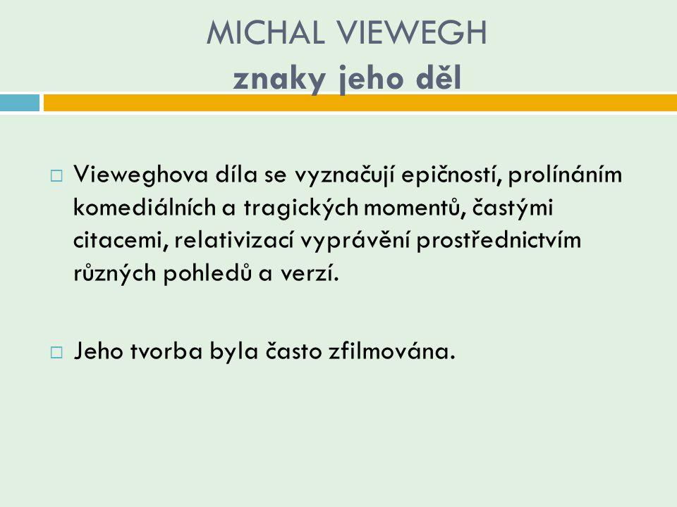 MICHAL VIEWEGH znaky jeho děl