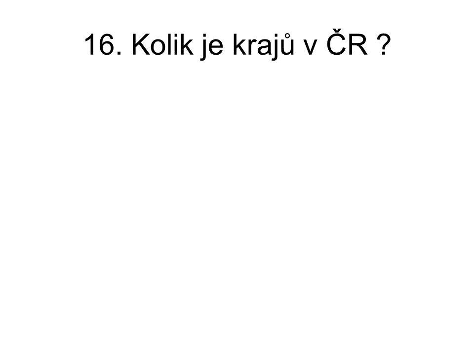 16. Kolik je krajů v ČR