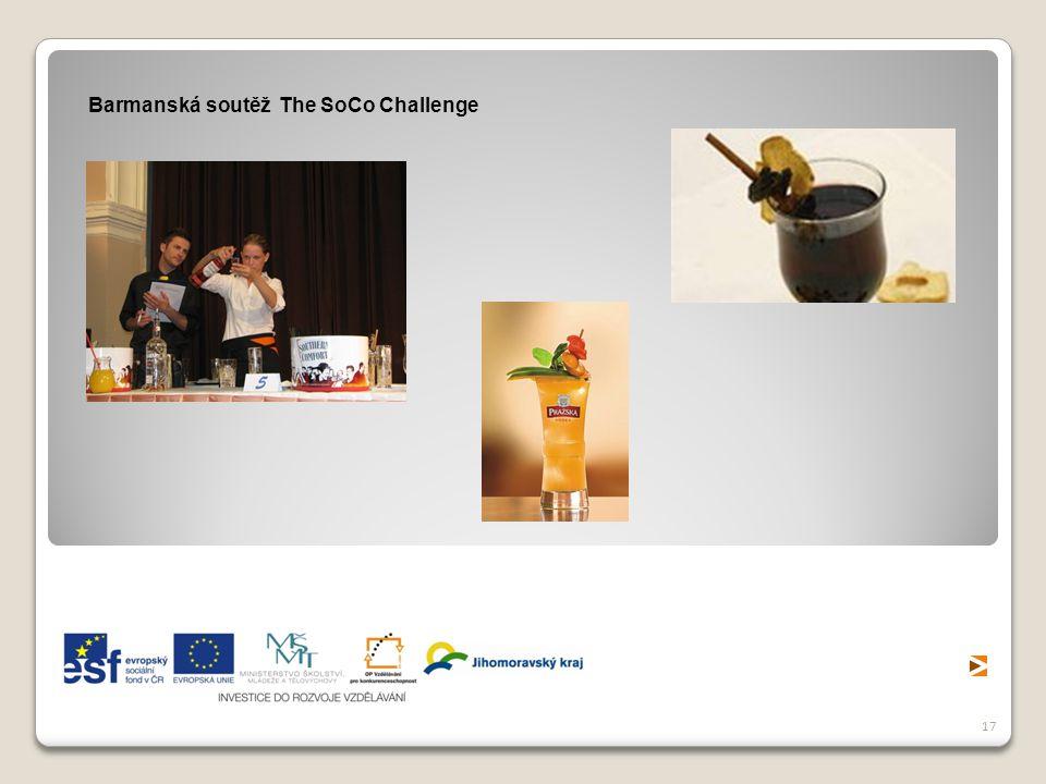 Barmanská soutěž The SoCo Challenge