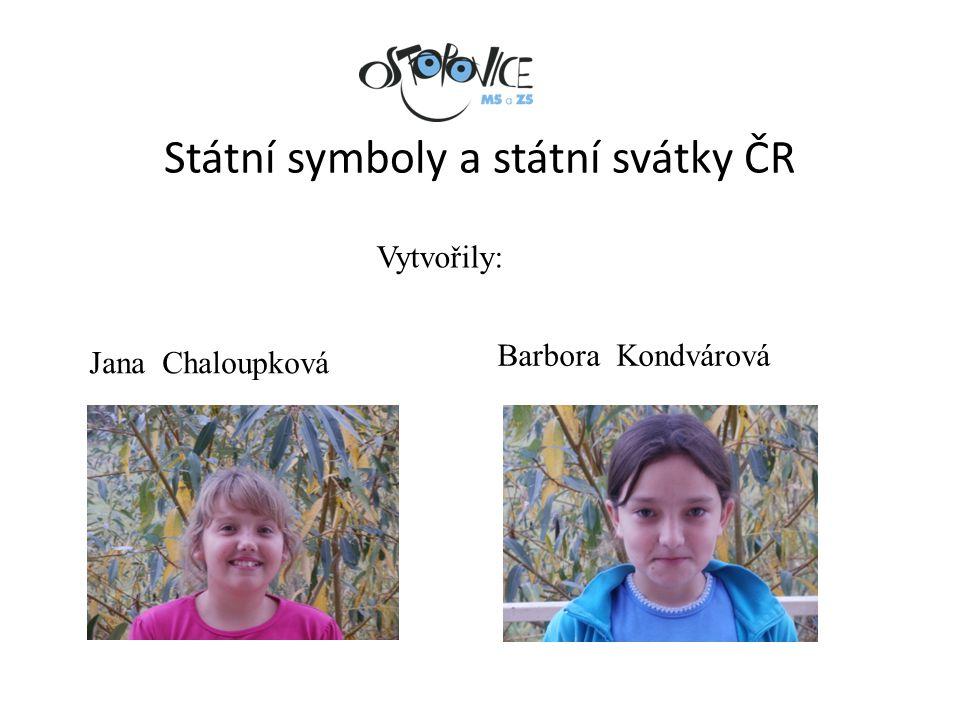 Státní symboly a státní svátky ČR