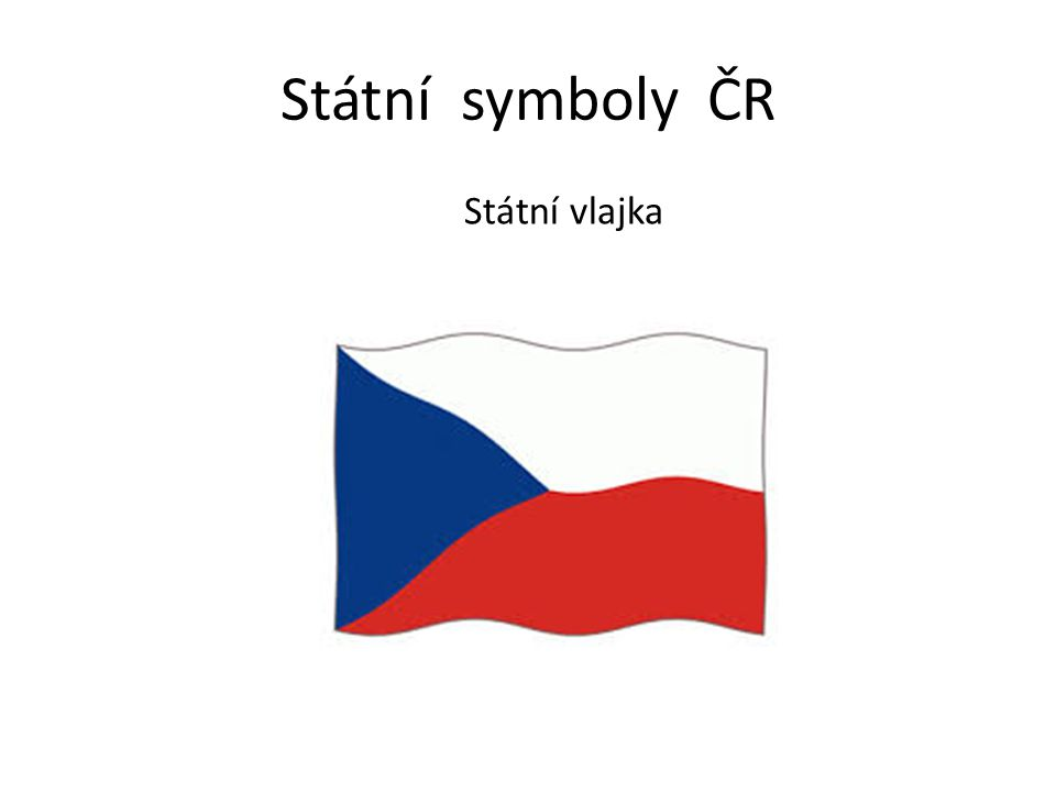 Státní symboly ČR Státní vlajka
